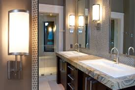 double vanity lighting. Led Bathroom Lighting Vanity With Two Framed Mirrors Above Double Sink E