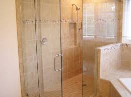 Nice Design Of The Bathroom Areas With Beige Wall And Glass Wall Added With  Bathroom Shower