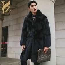 2018 whoel promotion fox fur jackets nature fox fur coats men winter tops and blouses match plus size