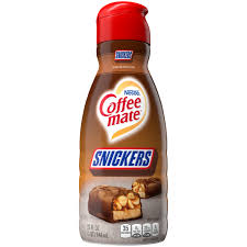 Rich and creamy, our amazing hazelnut is a smooth sweet sip that pleases. Snickers Coffee Creamer Liquid Coffee Mate