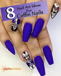 8 Nail Art Ideas For Coffin Nails | Style Presso