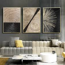 golden black geometric abstract canvas