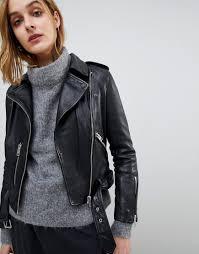 all saints vintage leather balfern biker jacket