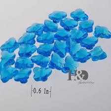 200pcs blue color cut glass crystals lamp parts erfly beads connectors rainbows maker 14mm diy chandelier parts
