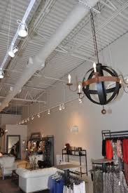 open ceiling lighting. Exposed Ceilings Painted White With Dryfal Paint Spiral Duct Work And Track Lighting Atlanta Ga Open Ceiling Natural A C Ductwork I