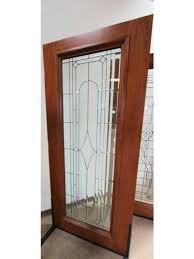 art deco beveled glass exterior door and two sidelite