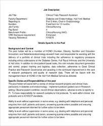 clinical research assistant job description endocrinologist job description