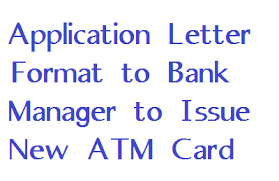 Application Letter For Bank Format