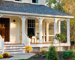 Porch Design Ideas Stone Walkway To Wooden Steps With Woodwhite Colros Farmers Porch Design