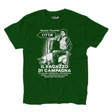 T-Shirt Uomo Film Trash Anni 80 Ragazzo Di Campagna Vive Citta Verde  KiarenzaFD