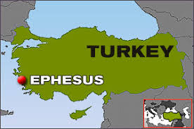 Image result for map showing Ephesus and surrounding area