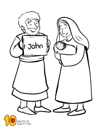 Colouring pages and worksheets about john the baptist at the end of his life (calvary curriculum). The Birth Of John The Baptist Coloring Page John The Baptist Sunday School Kids Bible Activities For Kids