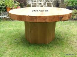 wood round outdoor table oak beam round garden table wood outdoor furniture plans outdoor wooden table