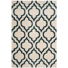 safavieh hudson ivory slate blue 5 ft x 8 ft area rug
