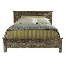 Amazon.com: Reclaimed Wood Bed Frame Queen: Kitchen & Dining
