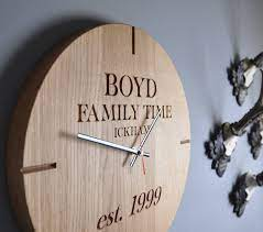 large personalised wooden oak wall