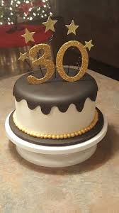 Black And Gold 30th Birthday Cake Cakes I Made In 2019