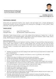sales engineer resume