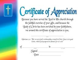 Project Certificate Template Sample Free Volunteer Recognition Award