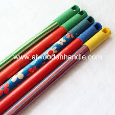stick wood for broom mop with 8 cm long cap