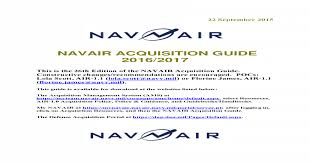 Navair Acquisition Guide 2016 2017 Navy