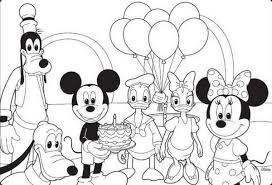 Small Picture Birthday Mickey Mouse Coloring Pages Birthday Coloring Pages