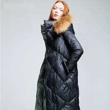 womens quilted jackets with fur hood women winter 2016 with real ... & womens quilted jackets with fur hood women winter 2016 with real fur hooded  long puffer jacket Adamdwight.com