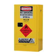 slimline flammable liquid storage cabinet 110l