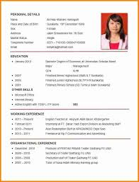 Example Resume For Job Application Example Resume Format Ojt