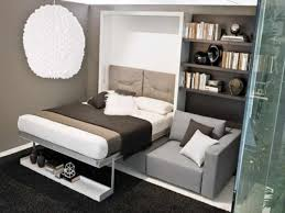 attractive wall bed murphy bed kits with brown wall mount shelf with gray sofa chair