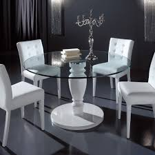 designer italian round glass dining table