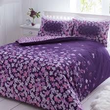 pieridae tered purple fl duvet quilt bedding cover and pillowcase bedding set duvet sets complete bedding sets bed sheets pillowcase