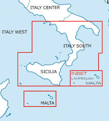 Charts Italien Charts Italy Ich556 2019 Italy South Vfr Chart 1 500