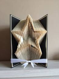 book folding pattern book art book origami star outline by