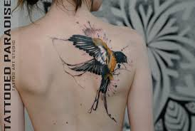100 лучших идей тату птицы для девушек со значением на фото