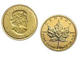 1 10 Ounce Canadian Maple Leaf Gold Coin
