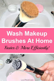 washing makeup brushes can be messy and time consuming it doesn t have to be though i m going to show you how to wash makeup brushes at home faster and
