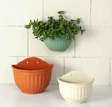 terrarium design wall plant pots wall planters diy pocketgarden plain color round plastic hanging planter