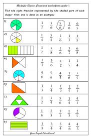 Grade First Grade Fraction Worksheets Image - Worksheets ...