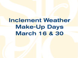 this is the image for the news article led inclement weather make up days