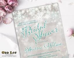 Snowflake Bridal Shower Winter Bridal Shower Invite Winter