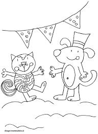 Disegni Da Colorare Animali Cane Gatto Festa Disegni Mammafelice