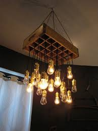 repurposed lighting. Old Crate Paired With Edison Bulbs In This Repurposed Light Fixture Lighting U
