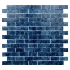 dark blue tiles. Interesting Tiles Quartz Dark Blue Glass Wall Tiles Pack Of 5 Intended