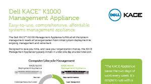 Dell Kace K1000 System Management Applicance Austin United States