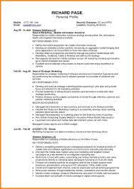 Unforgettable Personal Profile Format Fornt Brave100818 Com Cv