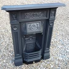 reclaimed antique cast iron combination fireplace