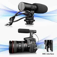 3,5 Mm Stereo Kondenzátorový Mikrofon Fotoaparátu Fotografování Rozhovor  Digitální Video Nahrávání Mikrofonem Pro Pc Přenosný Počítač Dslr  Fotoaparát - Prodej