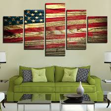 modular painting canvas wall art pictures home decoration 5 pieces retro wooden american flag modern hd on painted wood american flag wall art with modular painting canvas wall art pictures home decoration 5 pieces