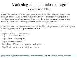 Marketing Communications Resume Samples Communication Examples It ...